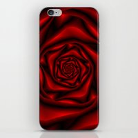 Rose Spiral in Black and Red iPhone & iPod Skin