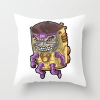 M.O.D.O.K. Throw Pillow