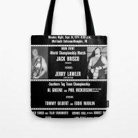 #1-B Memphis Wrestling W… Tote Bag