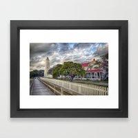 Oracoke Lighthouse Framed Art Print