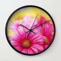 Gerbera Daisies II Wall Clock