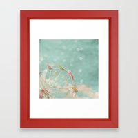 Candy Wheel Framed Art Print