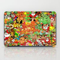 In Christmas melt into the crowd and enjoy it iPad Case