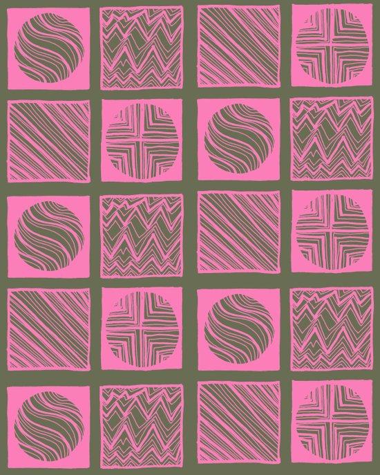 Green Squares Art Print
