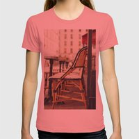 Paris Cafe Womens Fitted Tee Pomegranate SMALL