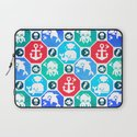 Marine Animals Geometric Pattern Laptop Sleeve