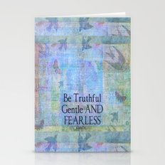 Fearless quote by Gandhi Stationery Cards