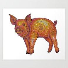 Patterned Piglet Art Print