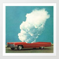 RED CAR 2 (2011) Art Print