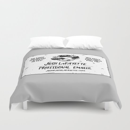Fake Business Card Duvet Cover