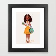 Framed Art Print featuring Modern AU: Tiana by Anoosha Syed