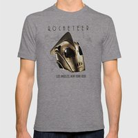 ROCKETEER! Mens Fitted Tee Tri-Grey SMALL