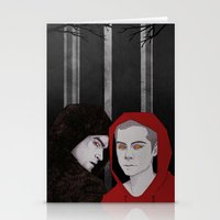 teen wolf Stationery Cards featuring TEEN WOLF by suis0u