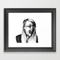 She Is Framed Art Print