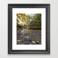 Indiana Fall Framed Art Print