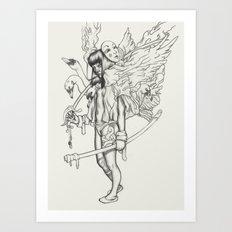 Sword and Swan Art Print