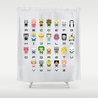 Ad Venture Time Alphabet Shower Curtain