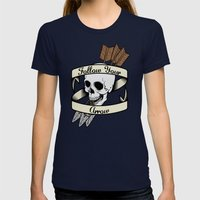 Follow Your Arrow Womens Fitted Tee Navy SMALL