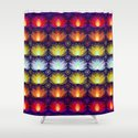 Variations on a Lotus I - Sparkle Brightly Shower Curtain