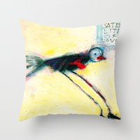 SATELLITE OF LOVE Throw Pillow