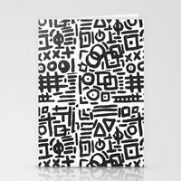 ABSTRACT 4 - BLACK & WHITE Stationery Cards