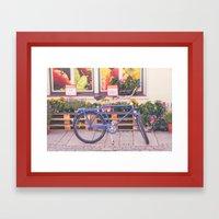 Market Bicycle Framed Art Print