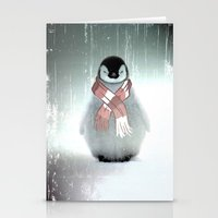 PENGUIN WITH SCARF Stationery Cards