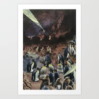 PENGUINS WITH POWERS Art Print