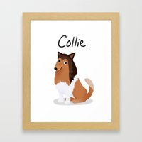 Collie - Cute Dog Series Framed Art Print