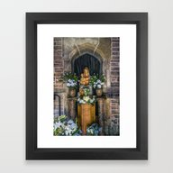 Framed Art Print featuring The Virgin And Child  by Ian Mitchell