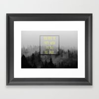 When the Skies are Gray Framed Art Print