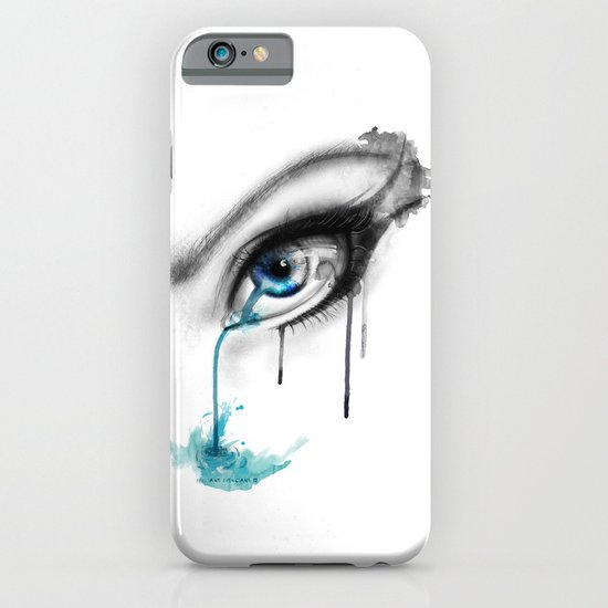 Blue tear river. iPhone & iPod Case