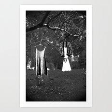 Wonderland in black and white Art Print