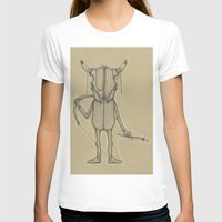 animal skull T-shirts featuring Bull Skull Guy Spirit Animal by Drawn by Lex