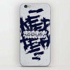 KEEP YOUR TEETH iPhone & iPod Skin