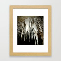 Stalactites Framed Art Print