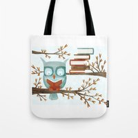 The Bookish Forest: Owl Tote Bag
