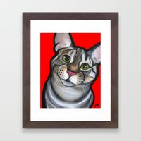 Lola The Tabby Framed Art Print