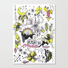 Colorful flash sheet Canvas Print