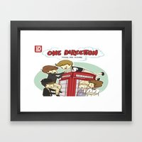 Take Me Home Cartoon One Direction Framed Art Print