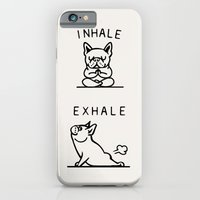 Inhale Exhale Frenchie iPhone 6 Slim Case
