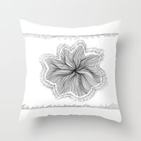 Jellyfish Star I B&W Throw Pillow