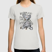 NO ONE ELSE CAN DO IT FOR YOU - grey Womens Fitted Tee Silver SMALL