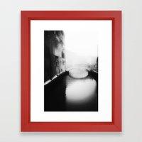 Under the bridge- Framed Art Print