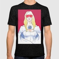 White Queen Mens Fitted Tee Tri-Black SMALL