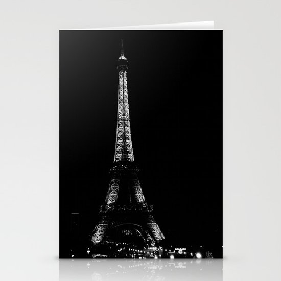 Paris by night Stationery Card