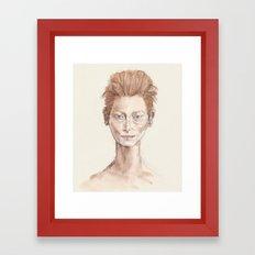 Tilda Swinton Inspiration Framed Art Print