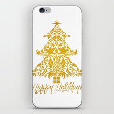 Ornate Pineapple Holiday Tree iPhone & iPod Skin
