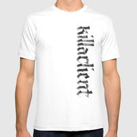 killaclient Mens Fitted Tee White SMALL