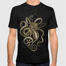 Octopsychedelia Sepia Mens Fitted Tee Tri-Black SMALL